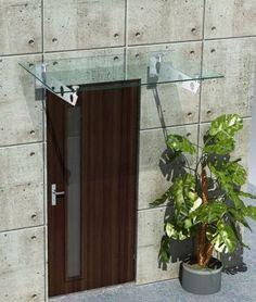 Pensilina in vetro e acciaio modello Nuvola