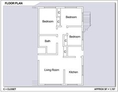 CFA Sasebo – Hario Village Tower: 3 bedroom apartment floor plan (Type C).