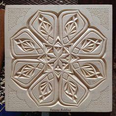 """""""Kaleidoscope-2"""" (chip carving by Tatiana Baldina)"""