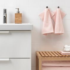 IKEA - VÅGSJÖN, Washcloth, white, The long, fine fibers of combed cotton create a soft and durable towel. Ikea Towels, Hand Towels, Recycling Facility, Face Towel, Square Meter, Fabric Softener, Fibres, Dry Cleaning, Washing Clothes