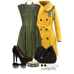 Hee Grand Yellow Coat, created by imclaudia-1 on Polyvore