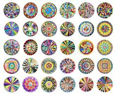 Artist Virginia Fleck has found a most beautiful use for discarded plastic bags: she turns them into mandalas. Recycled Art Projects, Recycled Crafts, Art Club Projects, Plastic Art, Fused Plastic, Plastic Bottles, Recycling, Cd Art, Art And Craft