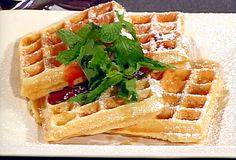 Food Network invites you to try this Classic Belgian Waffles recipe from Emeril Lagasse. Best waffles we have made. Belgian Waffle Recipe Food Network, Waffle Recipe No Milk, Waffle Recipes, Brunch Recipes, Breakfast Recipes, Overnight Belgian Waffle Recipe, Dinner Recipes, Dessert Recipes, Crepes