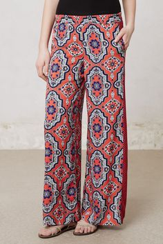 Paisley Wide-Legs - Anthropologie.com