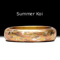 George Sawyer Design - Designer Mokume Gane Jewelry & Wedding Rings, Koi Collection, Wabi Sabi Collection, Camouflage Rings