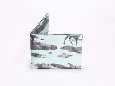 Wallet Set Tyvek Print Pattern Handmade CrispyWallet Deers Winter Camouflage Design