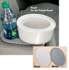 No more awkward fiddling around with water bowls or kibble when you're on a road trip with your dog!