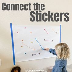 Connect the Stickers Fine Motor Activity for Kids - Toddler Approved