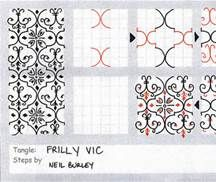 Frilly Vic - tangle pattern