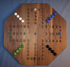 Wooden Marble Game Board Aggravation 20