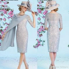 2016 Knee Length Short Lace Dress With Wrap Half Sleeve Sheath Appliques Mother Of The Bride Dresses Jewel Neckline Mothers Formal Wear Mother Of The Groom Suit Police Officer Mom From Huifangzou, $149.9| Dhgate.Com