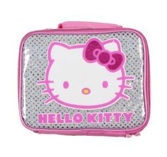 da9567d3d6 Hello Kitty Pink Glitter Bow Lunch Tote Hello Kitty Gifts