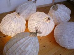 Luitgard Schultz schildert in haar Zutphense atelier en daar maakt ze ook grote papieren (licht-)objecten. De objecten zijn gemaakt van Oost...