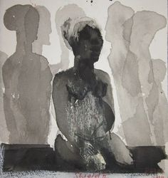 'Shield' by South African artist Deborah Bell via Everard Read Contemporary African Art, South African Artists, Smart Art, High Art, Watercolor And Ink, Artist Art, Figurative Art, Illustration Art, Illustrations