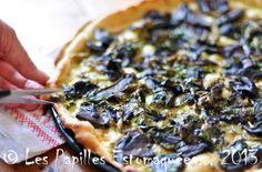 Pizza à la crème, cèpes, bouton d'ail des ours au vinaigre... | Les Papilles Estomaquées...Les Papilles Estomaquées…