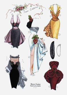 Bente Fredso paper doll of Joan Collins 3