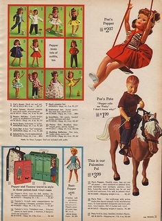 Sears 1964 Page 31 - Tammy Family Christmas Catalogs, Christmas Books, Vintage Christmas, Vintage Barbie, Vintage Dolls, Tammy Doll, Friend Outfits, Barbie Collection, Barbie Friends