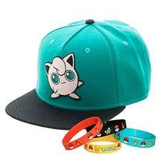 Pokemon Go Jigglypuff Snapback Cap Hat with Bracelet Pokemon Bag 75a6eb1f5b40