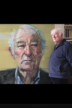 Seamus Heaney with his Portrait by Colin Davidson