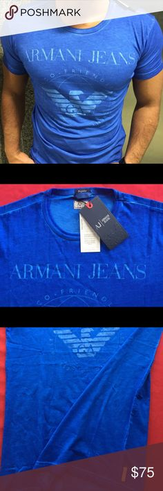 Armani Jeans T-Shirt Armani Jeans theme bring plenty of cool edge to this vibrant T-shirt from Armani Jeans. Crew neck, Short sleeves, Cotton, Machine washable, Imported. Armani Jeans Shirts Tees - Short Sleeve