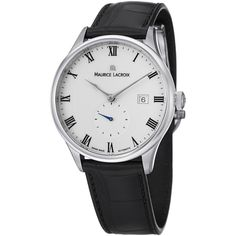 Maurice Lacroix Men's MP6907-SS001-112 'MasterPiece' White Dial Black Strap Watch - Overstock™ Shopping - Big Discounts on Maurice Lacroix Maurice Lacroix Men's Watches