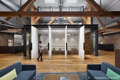Huntsman Architectural Group Redesigns Tolleson's San Francisco Office Space - otto Rustic Office, Industrial Office, Bureau Design, Corporate Interiors, Office Interiors, Corporate Offices, Commercial Design, Commercial Interiors, Architecture Office