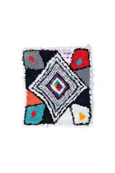 vintage moroccan boucherouite rug art by projectsourced on Etsy