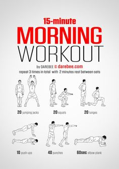 Super short workouts can be very effective for building strength and cardio endurance. This time-efficient bodyweight workout from DAREBEE doesn't require equipment and is perfect for doing at home, in a hotel room, in a dorm room, or even an empty meeting room.