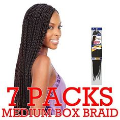 Crochet Box Braids Amazon : FreeTress Medium Box Braids Shake-N-Go Crochet Latch Hook Braiding ...