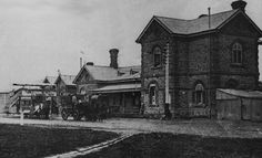 Gawler Train Station, 1910 #Gawler #SouthAustralia