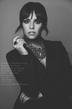 Shooting W Hotel Barcelona | Cristina Pedroche with SAYAN necklace