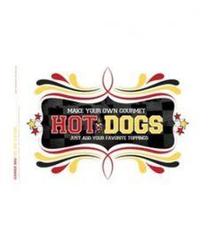 Summer BBQ - Hot Dog Station: Hot Dogs Sign
