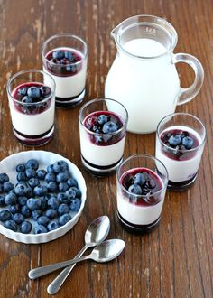 Yogurt Panna Cotta with Blueberry Sauce {Recipe} » Glorious Treats