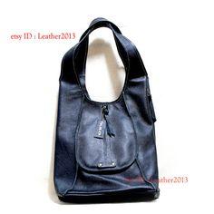 Genuine black leather shoulder bag, leather handbag, weman leather bag, leather purse bag, leather tote bag, leather evening bag DN002A
