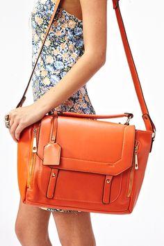 Blair Messenger Bag in Orange