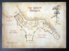 "The Hobbit Bag End House Interior   The Hobbit : Le plan du ""Green Dragon"" vu de dessus."