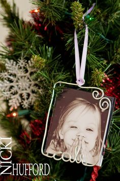 Personalized Photo Ornament. via Etsy.