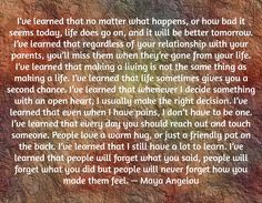 Be encouraged my Friend ... These are some things I've learned that I wanted to share with you. I hope it blesses you and that you can say AMEN in your own life to these beautiful words penned by Maya Angelou