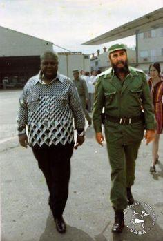 Joshua Nkomo and Fidel Castro. Cuba was the state sponsor behind ZIPRA/ZAPU.