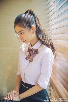 YET ANOTHER TRIVIAL TECHNOLOGIES Most Beautiful Faces, Beautiful Asian Girls, Korean Beauty, Asian Beauty, Korean Makeup, Sweet Girls, Cute Girls, Angelababy, Good Looking Women