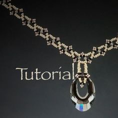 Beadwoven Art Deco Necklace Tutorial Jagged Little Edges with seed beads and…