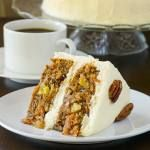 Pecan Pineapple Carrot Cake with Vanilla Buttercream Frosting – My favourite version of carrot cake featuring a moist spice cake base with sweet golden pineapple and crunchy pecans. Rock Recipes, Vanilla Buttercream Frosting, Italian Buttercream, Just Desserts, Dessert Recipes, Cupcake Recipes, Gateaux Cake, Classic Desserts, Spice Cake