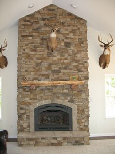 stone fireplaces | Stacked Stone Fireplace Surround Photos ...