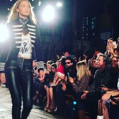 (Video on ig) tommyhilfiger show with gigihadid #Tommynow #nyfw #sept2016