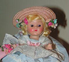 """VOGUE 1953 Strung Ginny """"KAREN"""", Complete & Original - Pretty Blonde Brown Eyes #hardplasticstrungVogueGinnydollSLEEPEYE"""