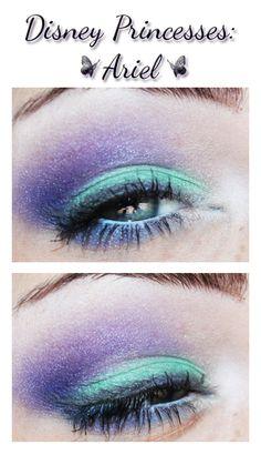 Ariel inspired makeup.