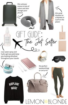 Gift Guide for the Jet Setter — Lemon Blonde Europe Travel Tips, Packing Tips For Travel, Travel Hacks, Europe Packing, Traveling Europe, Vacation Packing, Backpacking Europe, Packing Lists, Travel Guide