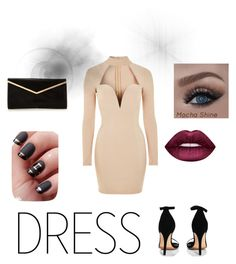 """""""Choker date night dress"""" by emily-maya ❤ liked on Polyvore featuring Rare London, Boohoo and Lime Crime"""