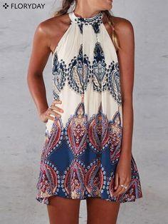 Sleeveless Mini Casual Dress Isn't this sleeveless mini dress perfect for summer…