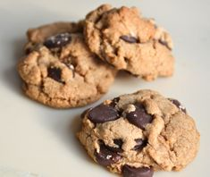 Crunchy Whole Grain Chocolate Chip Cookies